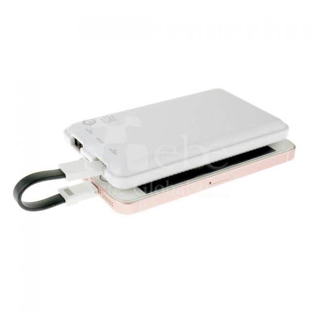 Faux leather power bank Picture printing power bank