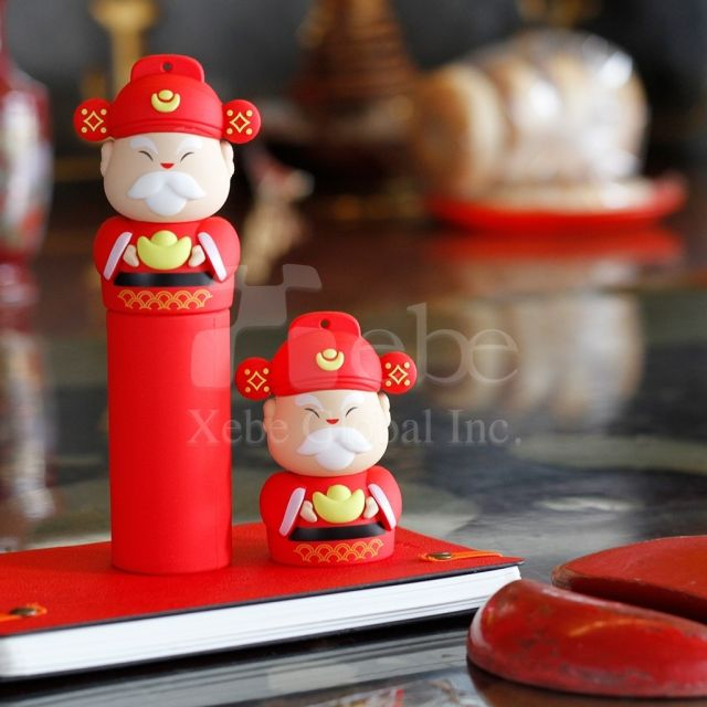 Portable phone charger god of wealth power bank