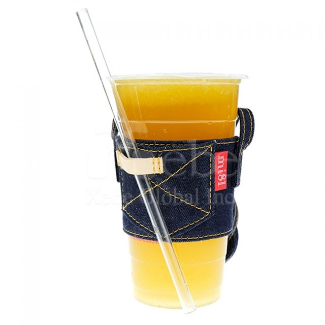 Denim Style Carry Bag for Cup Custom Cup Sleeve Bag