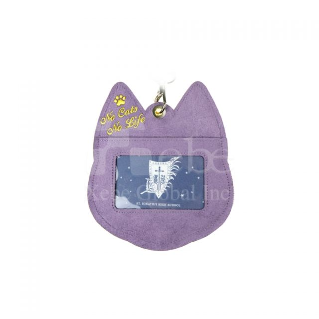 Yellow cat card holder custom corporate gifts