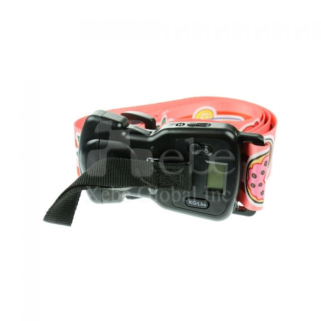 Customizable password lock luggage belt with scale multifunctional baggage strap