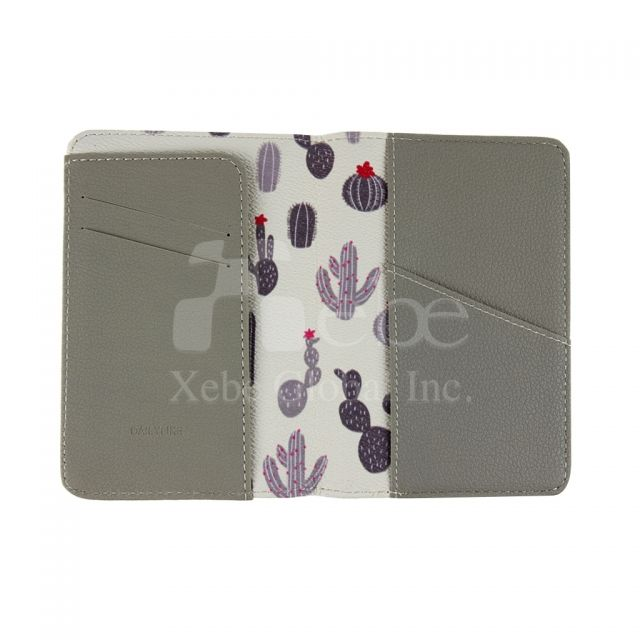 Cactus leather passport holder Creative gift