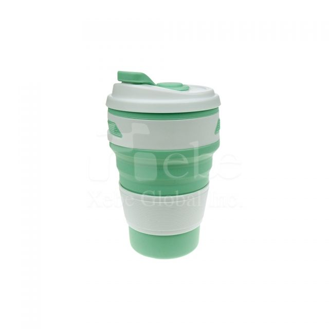Custom silicone Foldable portable cup Custom silicone collapsible cup