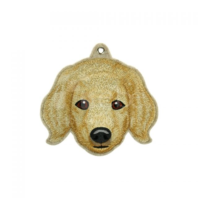 Embroidery Golden Retriever card holder Custom electric embroidery card holder